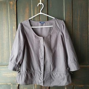 Reitmans Soft Grey Cotton Blouse